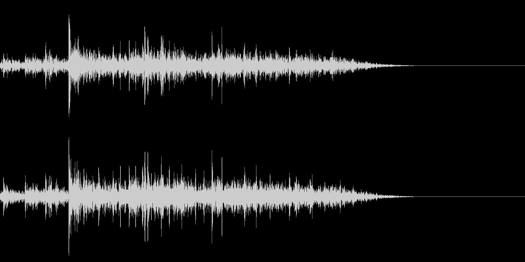 トトトドーンバリバリ(一瞬の花火)の未再生の波形