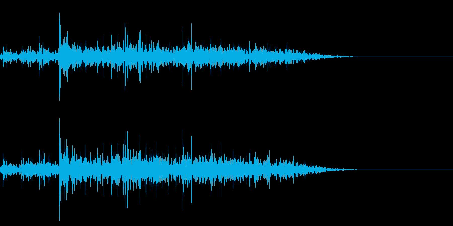 トトトドーンバリバリ(一瞬の花火)の再生済みの波形