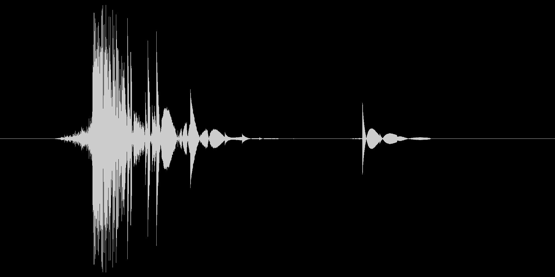 ゲーム(ファミコン風)ヒット音_023の未再生の波形