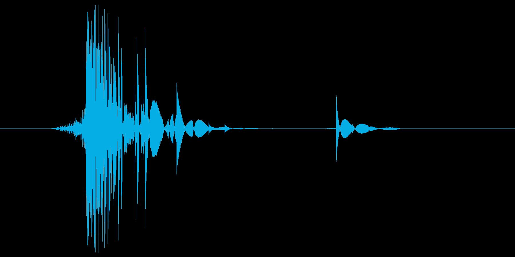 ゲーム(ファミコン風)ヒット音_023の再生済みの波形