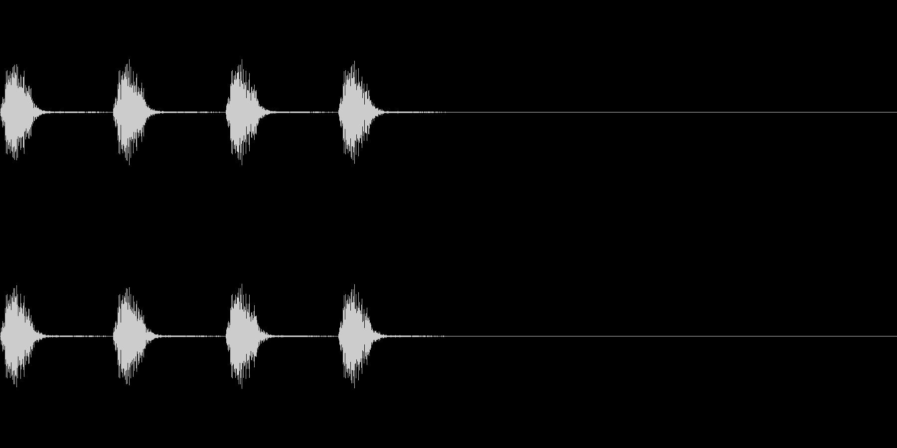 逃げるときの足音の未再生の波形