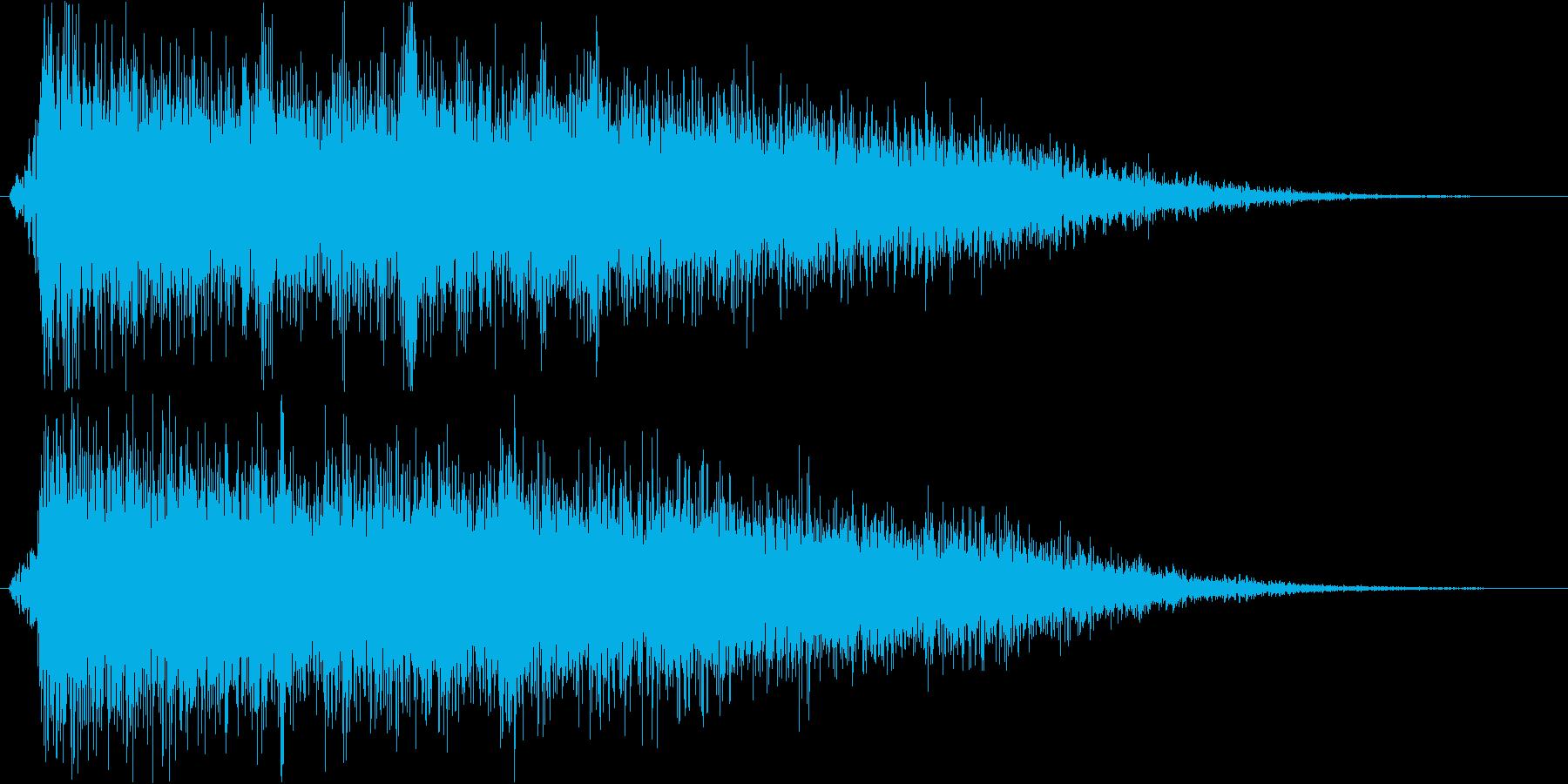 【ガキーン】インパクトのある派手な金属音の再生済みの波形