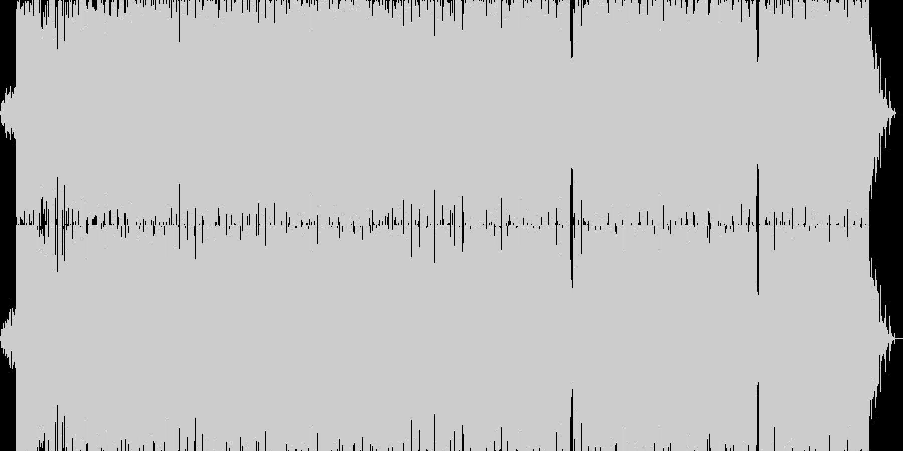 ワイルドな雰囲気のシンセサイザーロックの未再生の波形