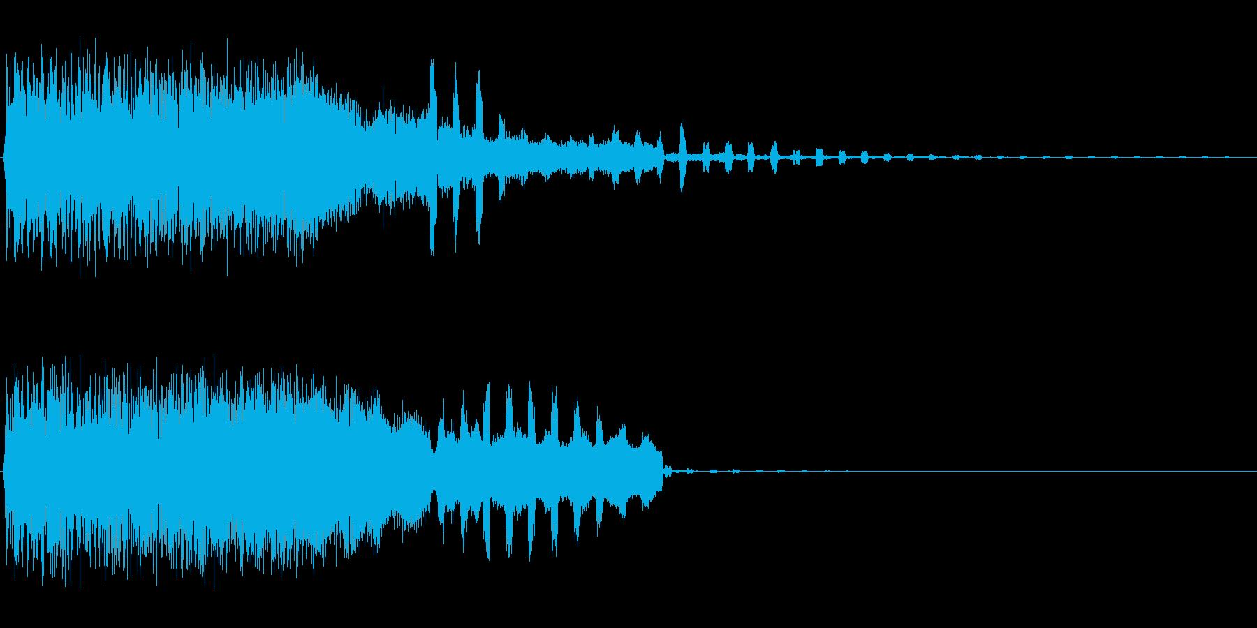 ブルルンカラカラ(高い2種類の効果音)の再生済みの波形