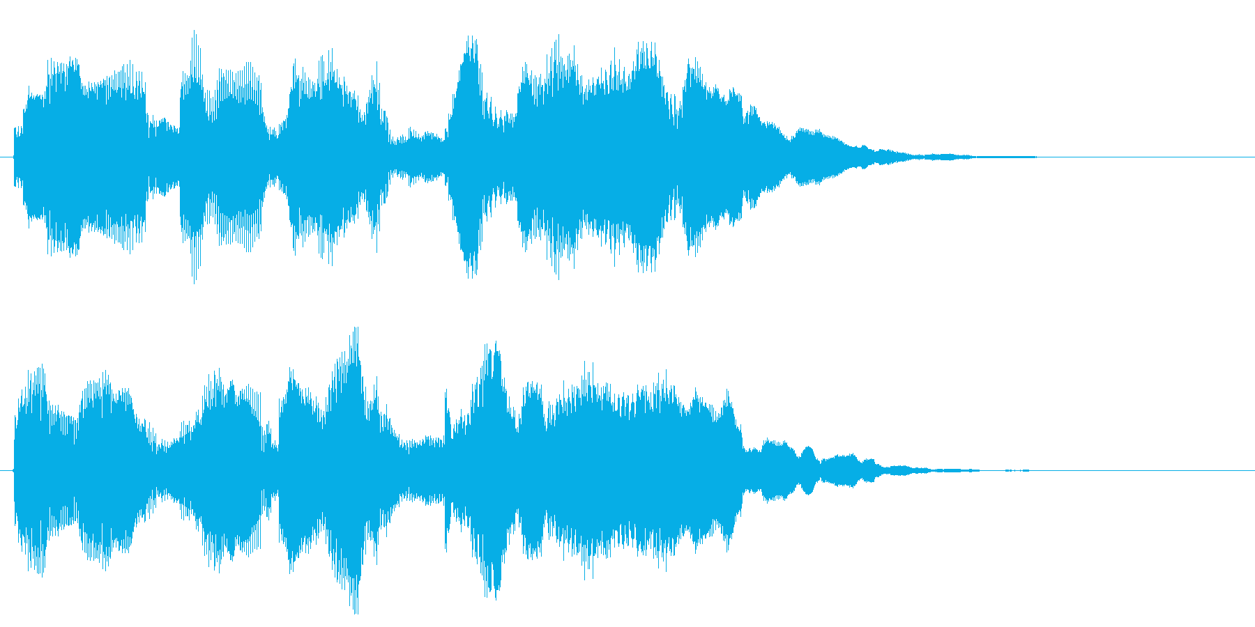 面白い音 楽しい音 変な音 バラエティの再生済みの波形