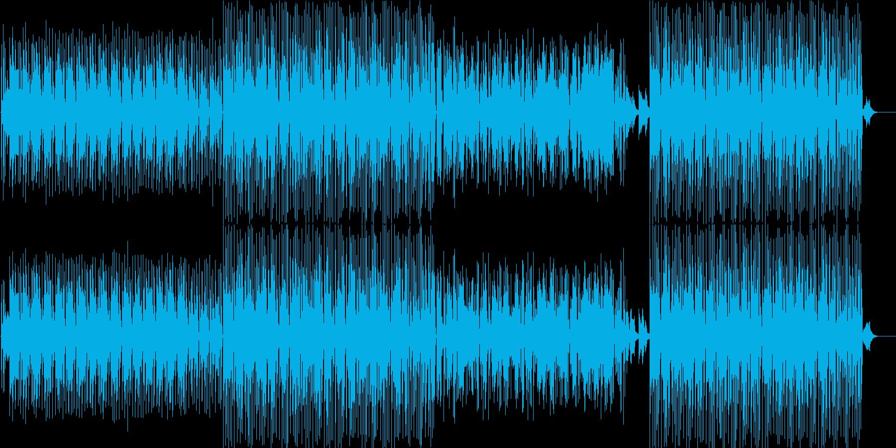 無機質でインダストリアルなアンビエンス曲の再生済みの波形