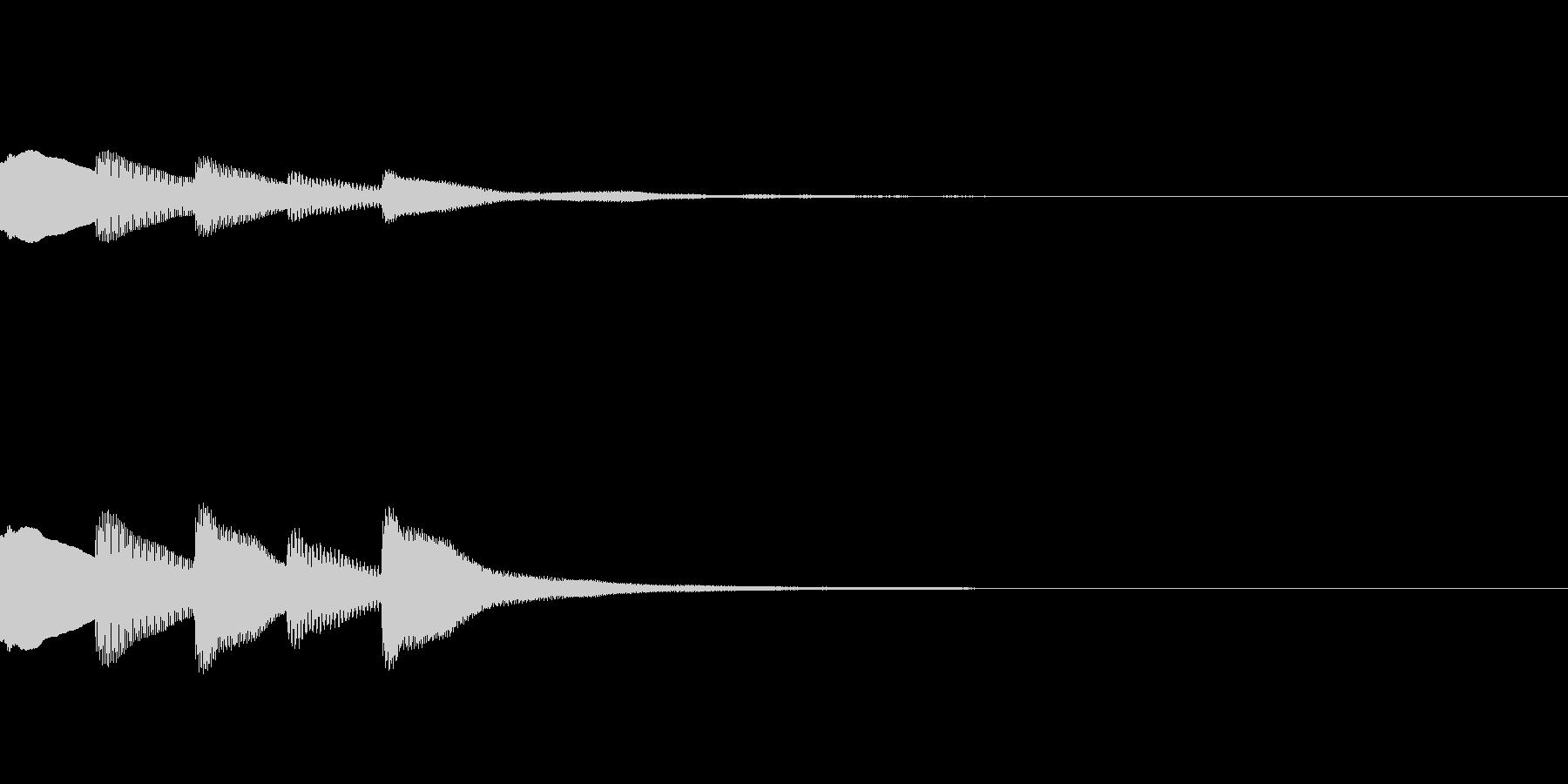 マリンバのアプリ起動音です。の未再生の波形