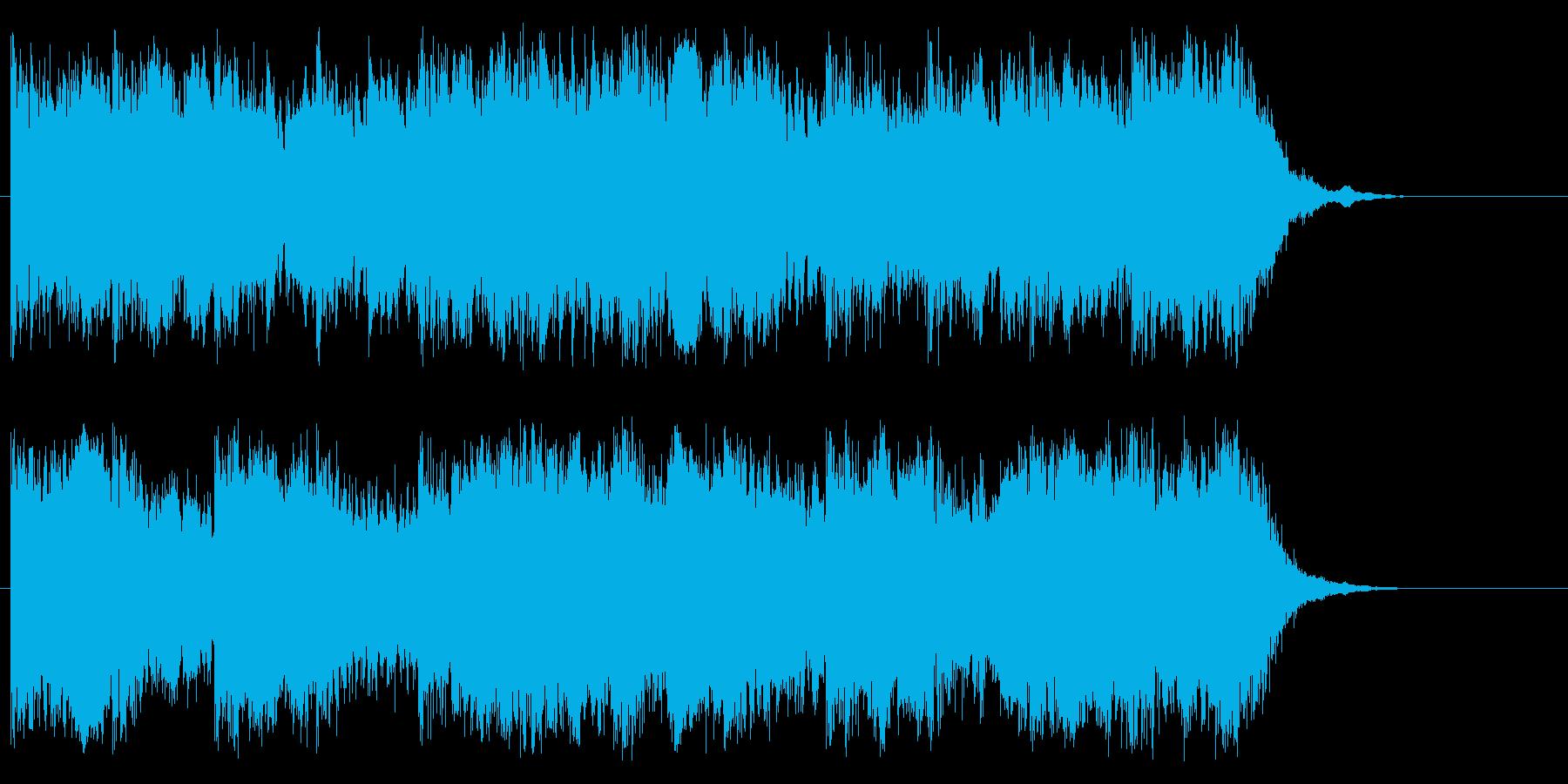 壮大でスピード感があるピアノ・オケ曲の再生済みの波形
