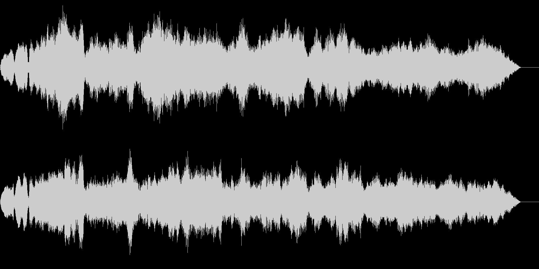 オーケストラで雰囲気があるBGMの未再生の波形