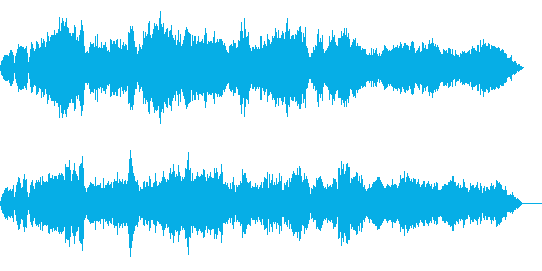 オーケストラで雰囲気があるBGMの再生済みの波形