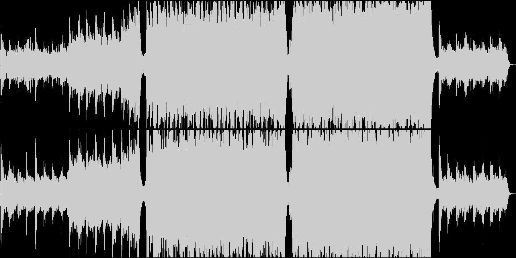 壮大なトレイラー系エピックオーケストラ曲の未再生の波形