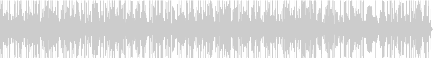 けだるいベースのFunk系BGMの未再生の波形