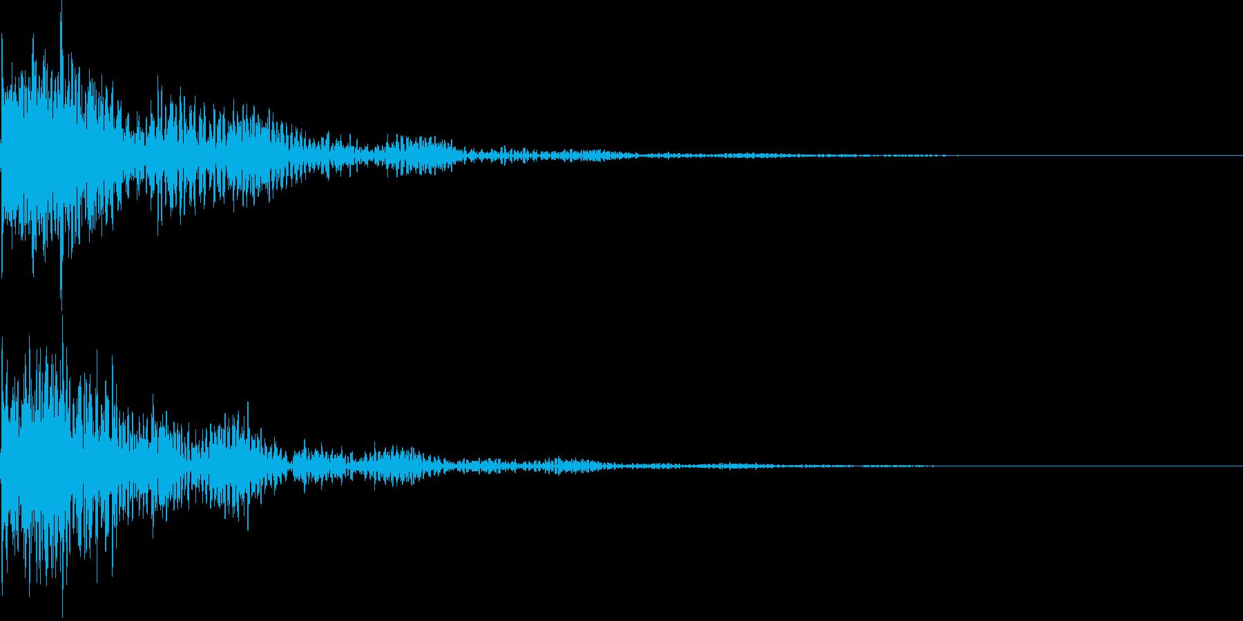 太鼓と三味線の和風インパクトジングル!7の再生済みの波形