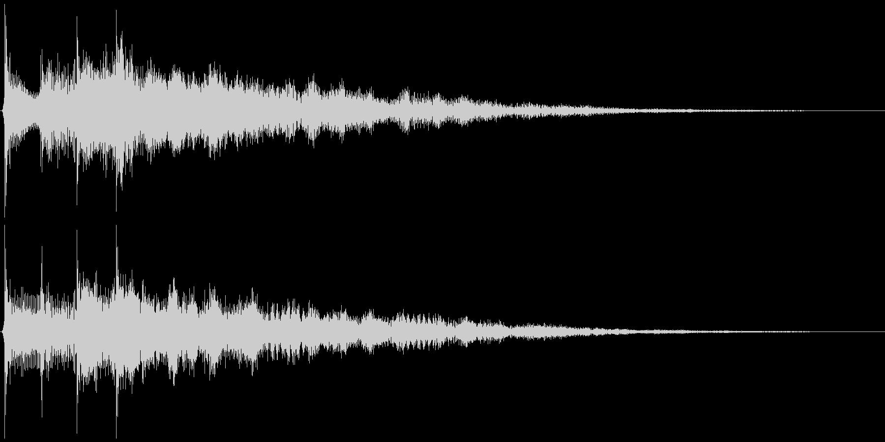 サウンドロゴ想定クールなエレキギター2の未再生の波形