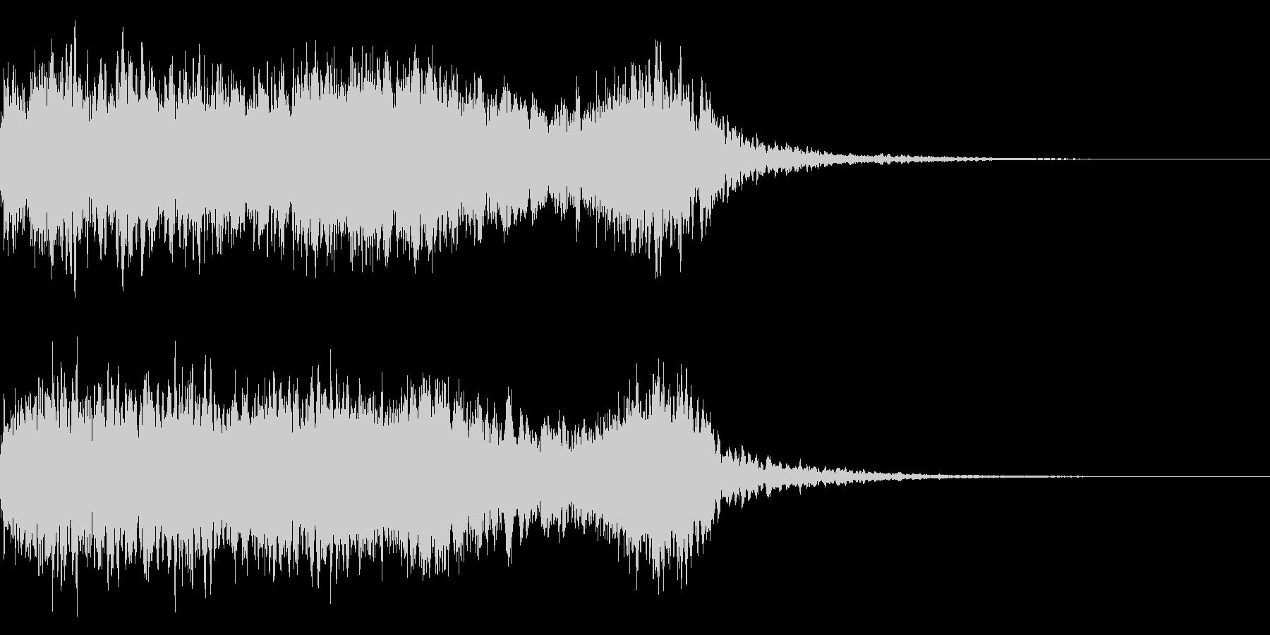 神社 結婚式の笛(笙)和風フレーズ!05の未再生の波形