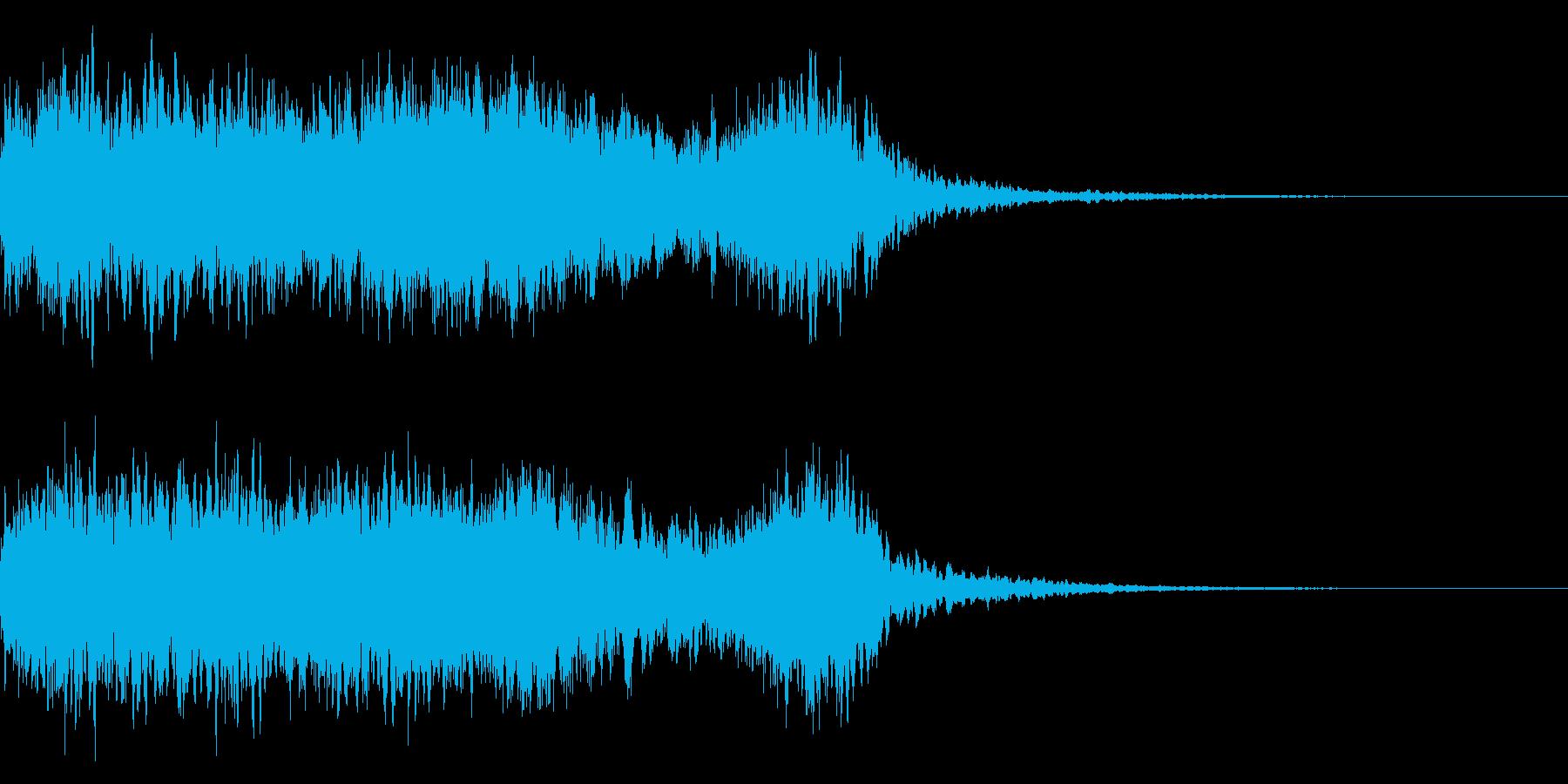 神社 結婚式の笛(笙)和風フレーズ!05の再生済みの波形