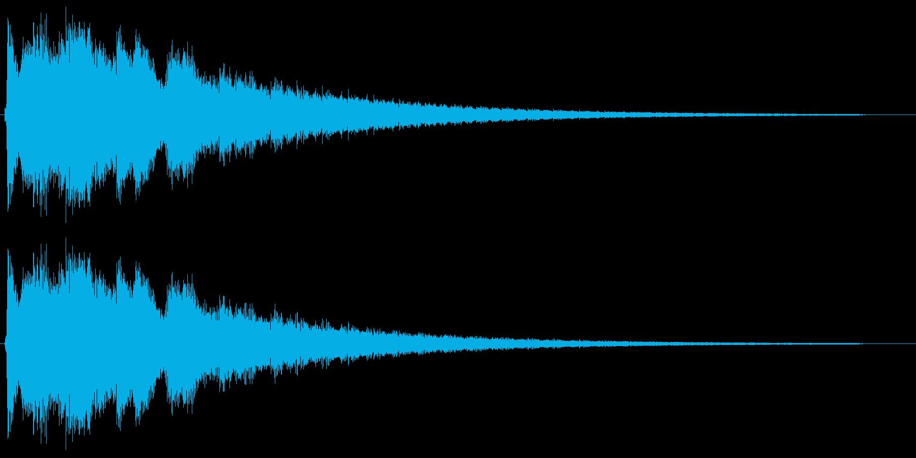 金属的なチリ〜ンとした音の再生済みの波形