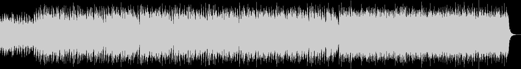 激しいストリングスが特徴的なBGMの未再生の波形