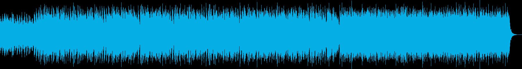 激しいストリングスが特徴的なBGMの再生済みの波形