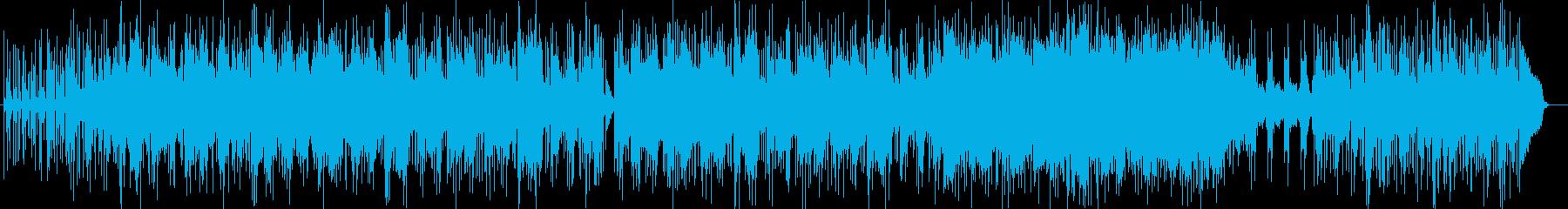 壮大で明るいシンセサイザーサウンドの再生済みの波形