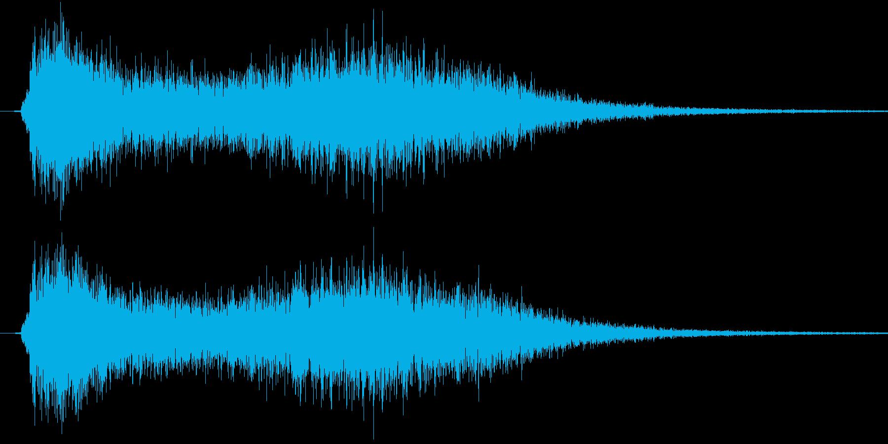 ステータス上昇魔法(上昇するイメージ)の再生済みの波形
