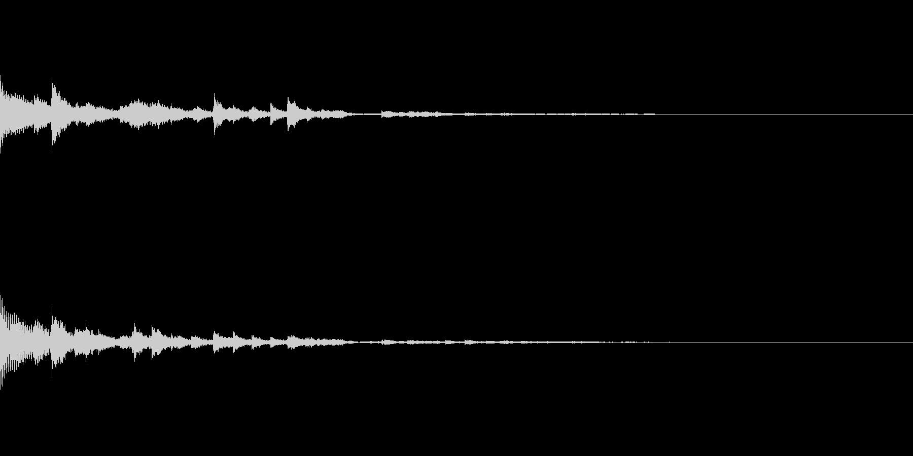 【SE 効果音】鈴の音の未再生の波形