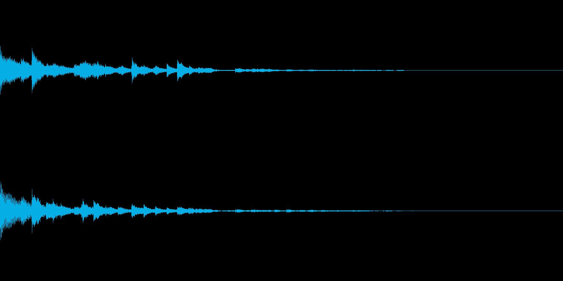 【SE 効果音】鈴の音の再生済みの波形