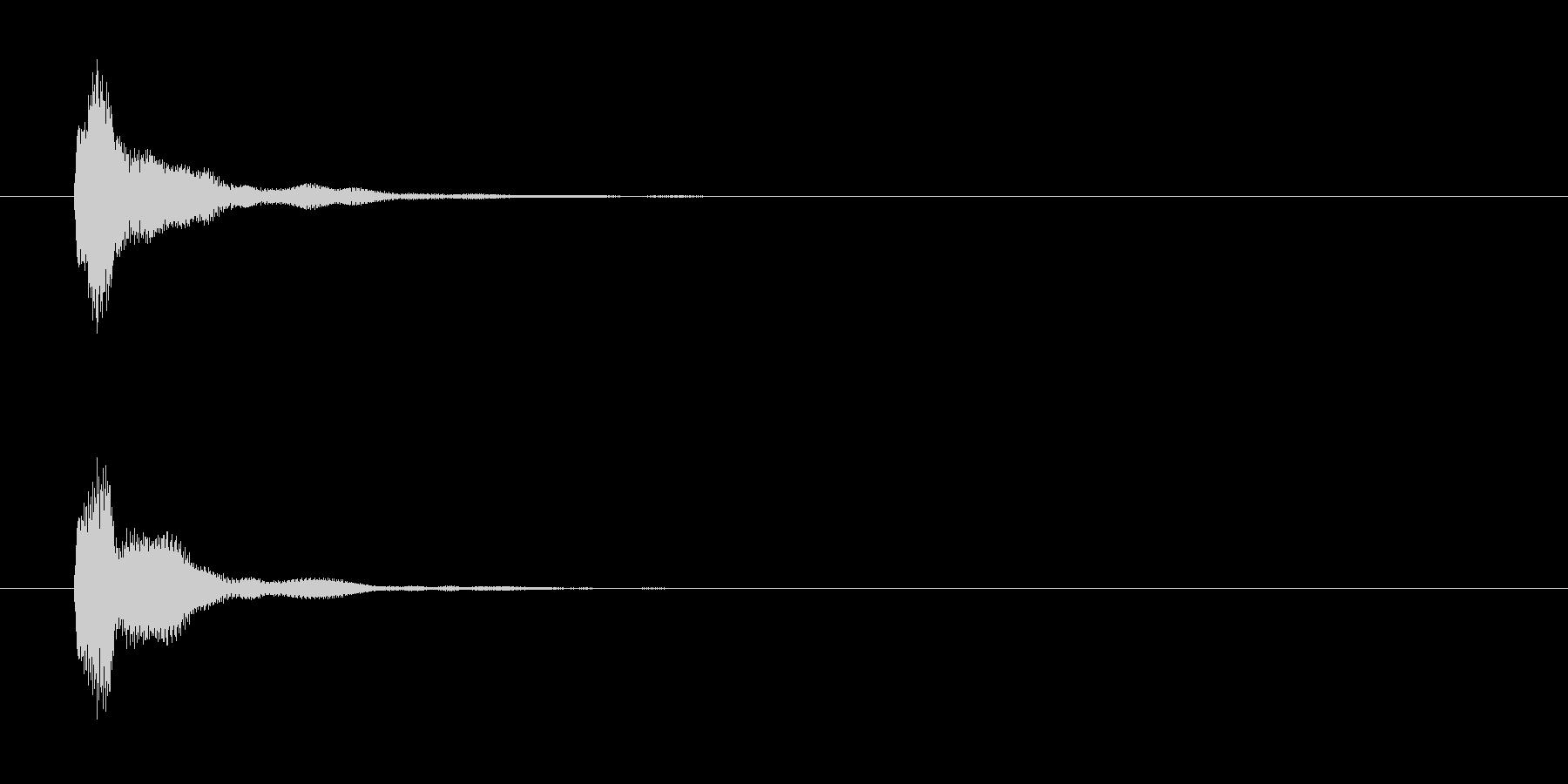操作系SE_カーソル移動ほかの未再生の波形