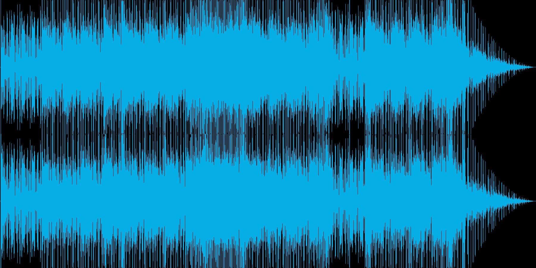 ルーズな雰囲気のロックの再生済みの波形
