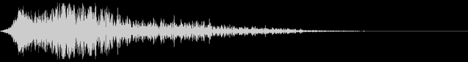 インパクト音(衝撃、突風のイメージ)の未再生の波形