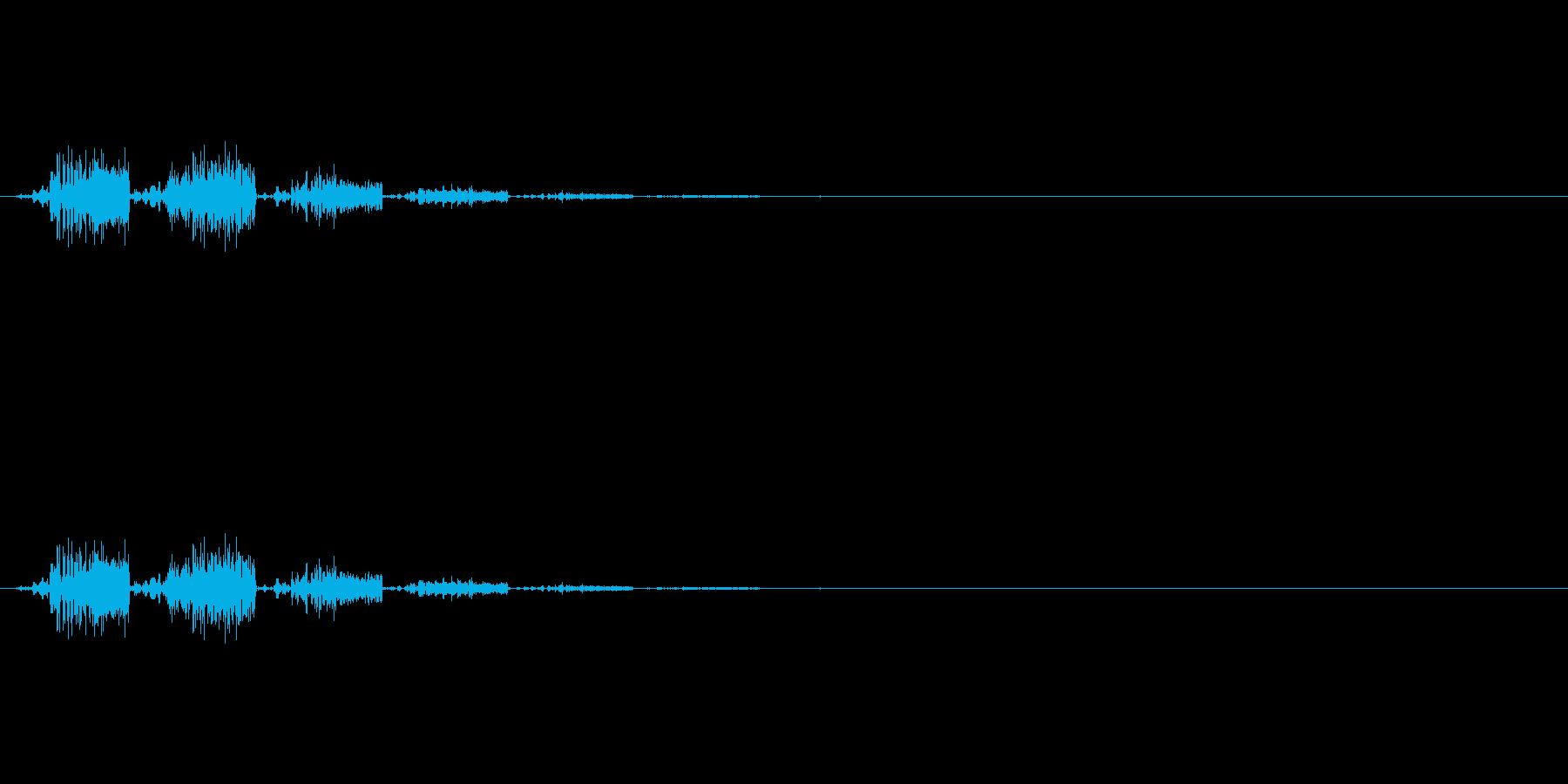 シュッ:ゲームの小ジャンプの再生済みの波形