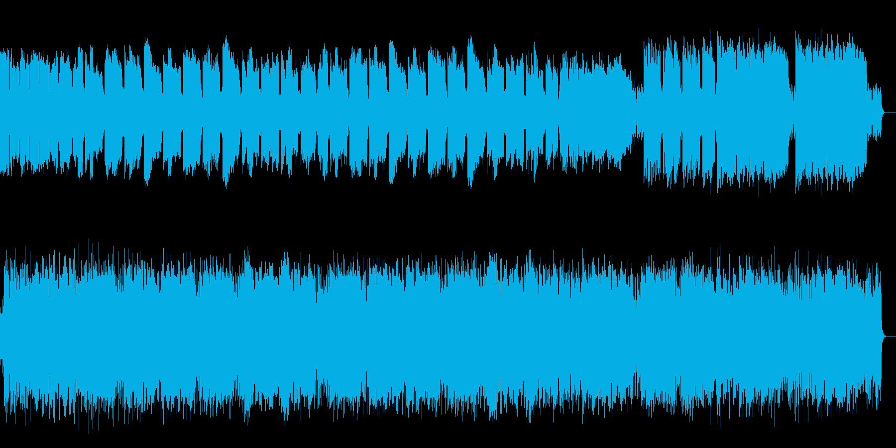SAXとギターの優しいメロディアスな楽曲の再生済みの波形