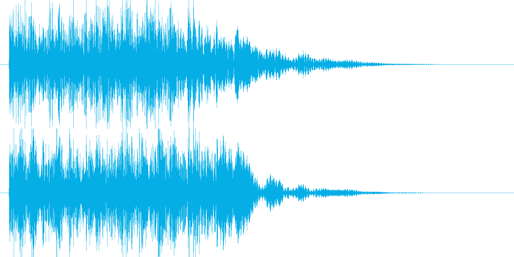 和太鼓の再生済みの波形