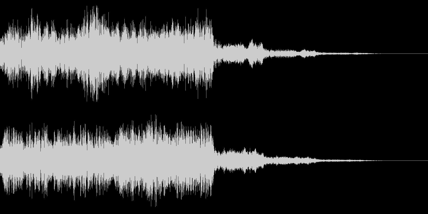 レトロなステージクリア音 ゲームクリア音の未再生の波形