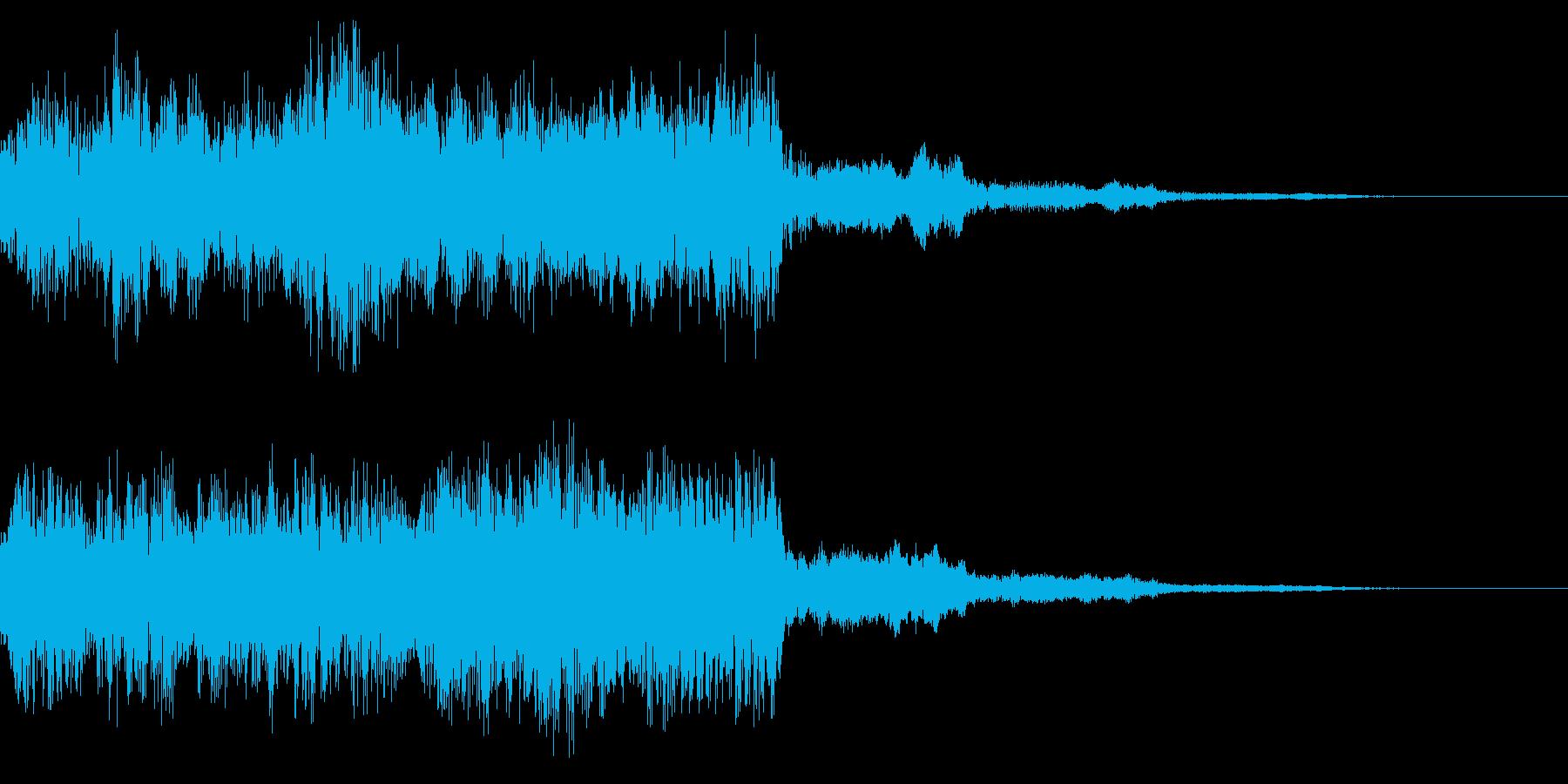 レトロなステージクリア音 ゲームクリア音の再生済みの波形
