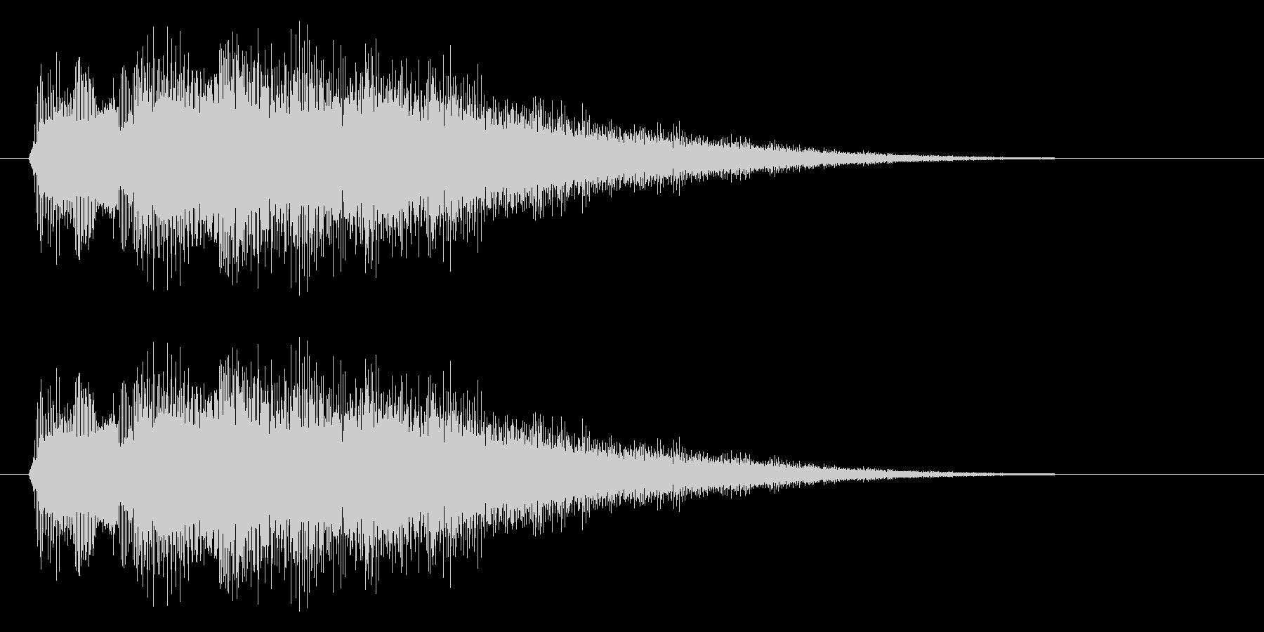 キラキラ/タッチ/決定の未再生の波形