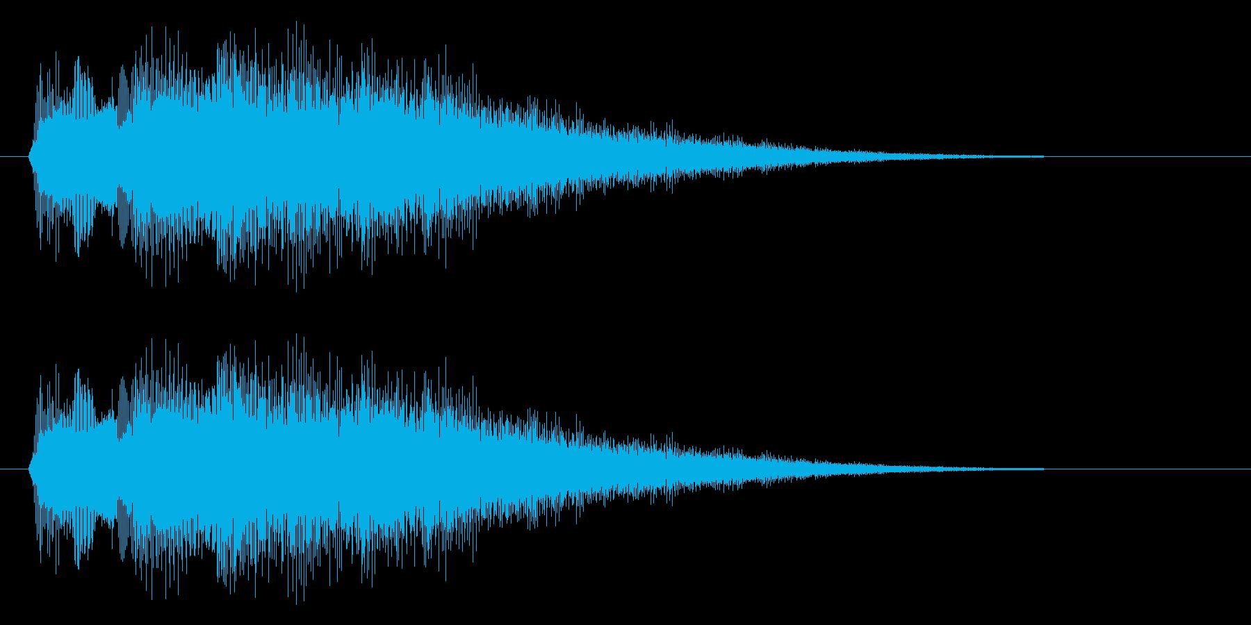 キラキラ/タッチ/決定の再生済みの波形