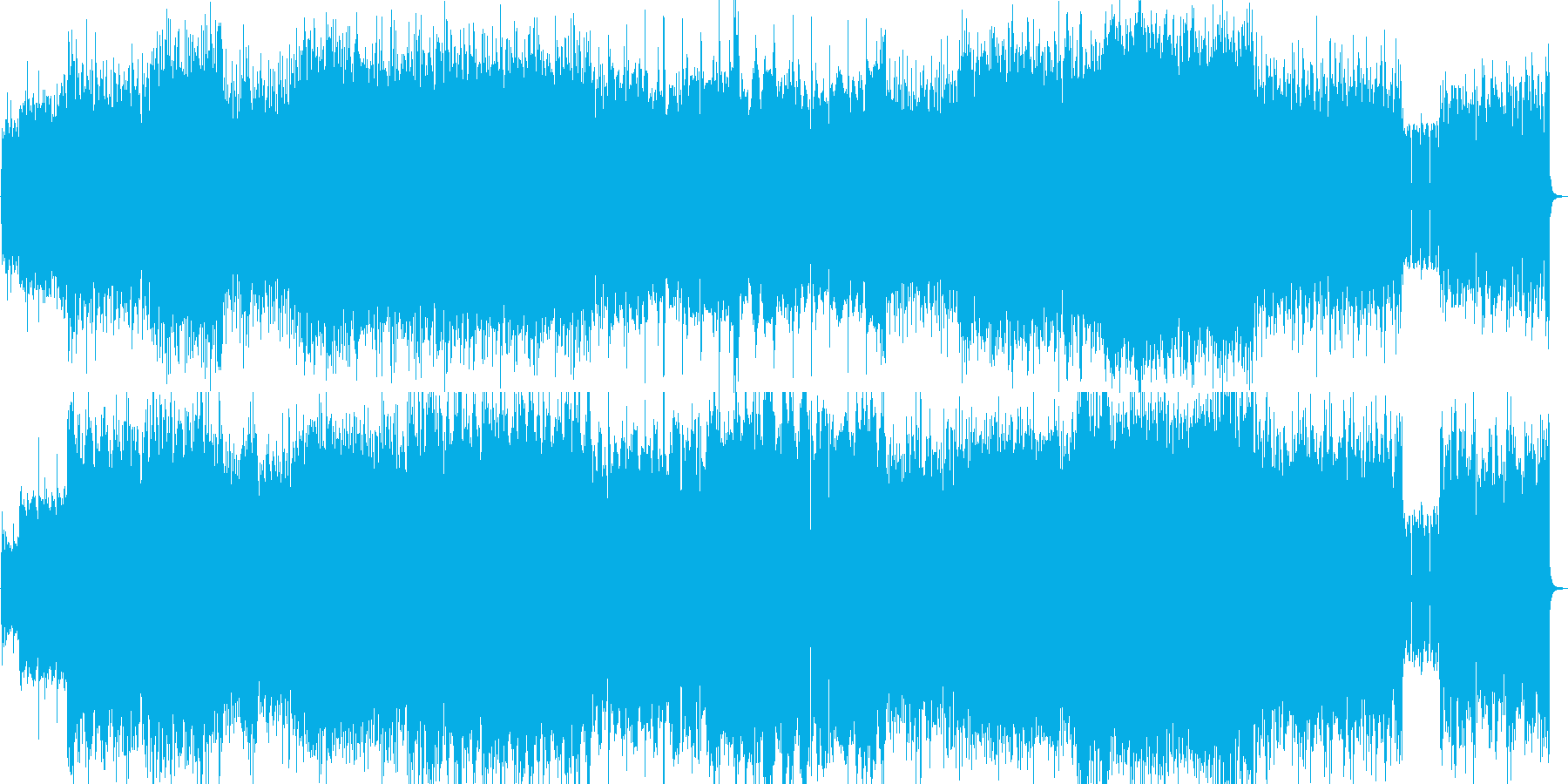 疾走感のあるロックの再生済みの波形
