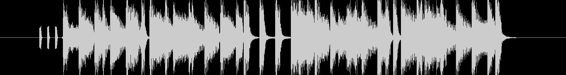 オープニングにピッタリのポップなBGMの未再生の波形
