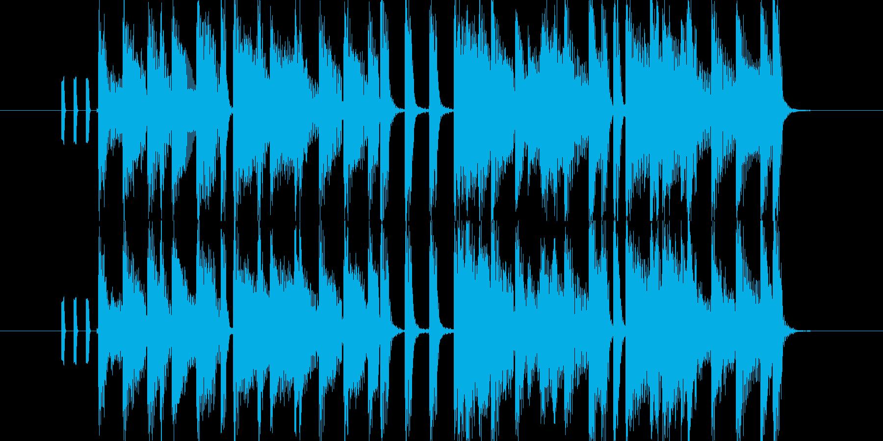 オープニングにピッタリのポップなBGMの再生済みの波形