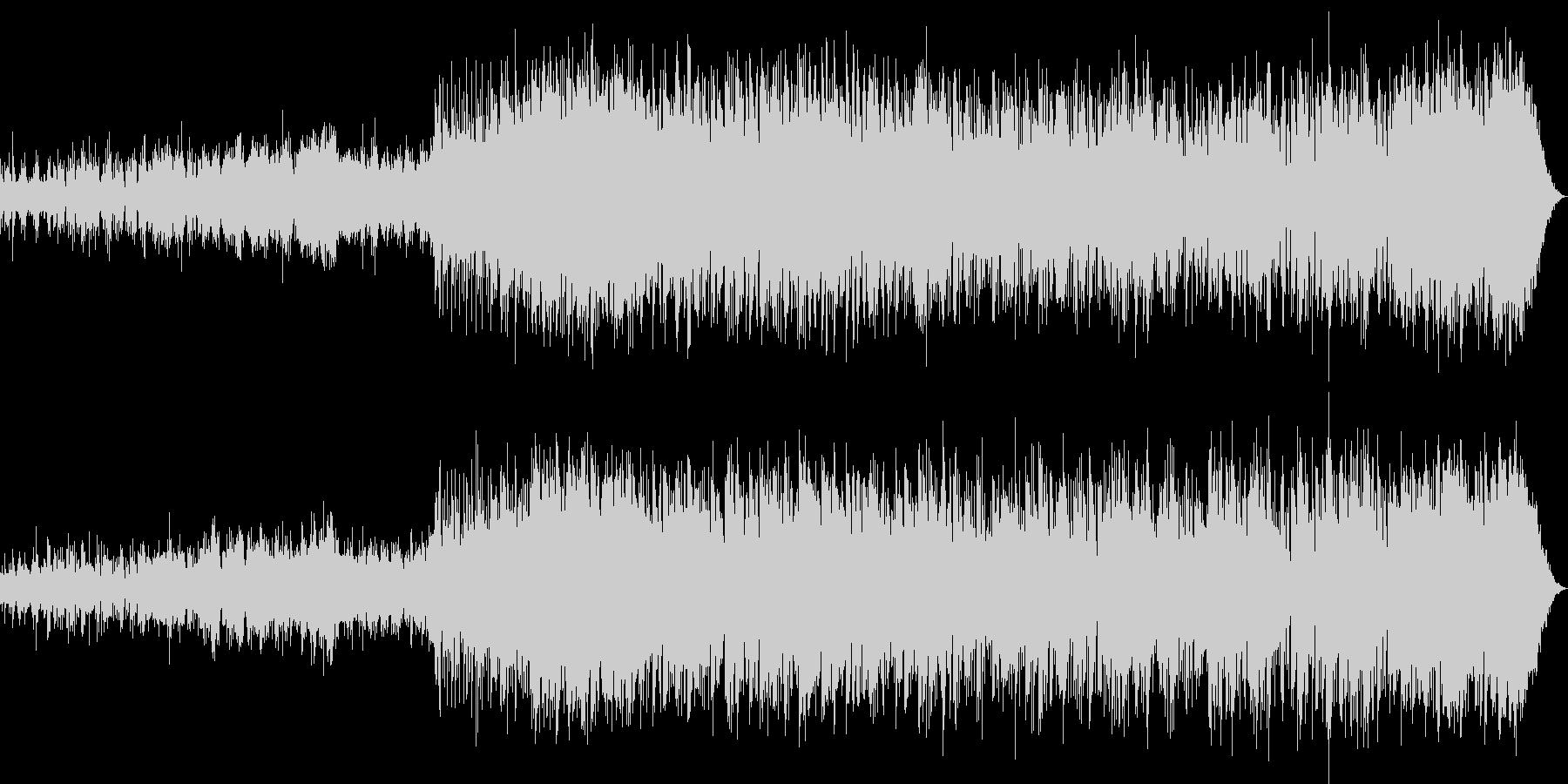 謎めいた不思議なイメージ曲の未再生の波形