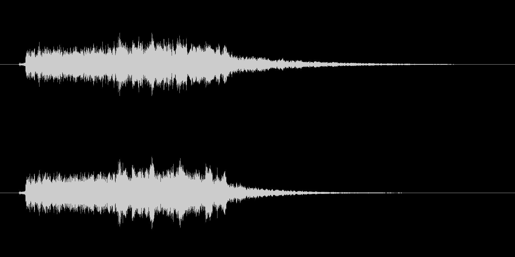 クイズがハズレたときにぴったりな効果音の未再生の波形