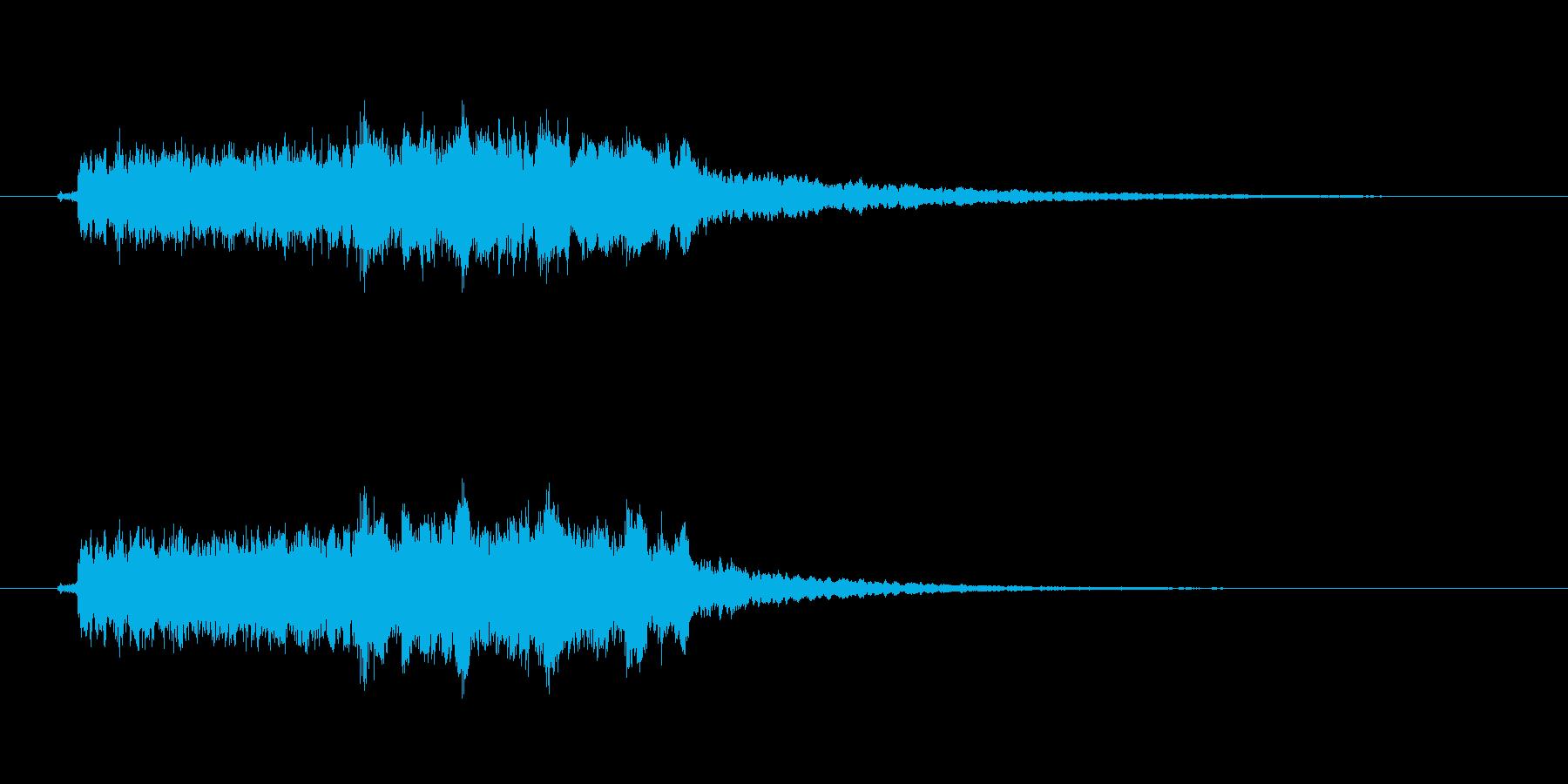 クイズがハズレたときにぴったりな効果音の再生済みの波形