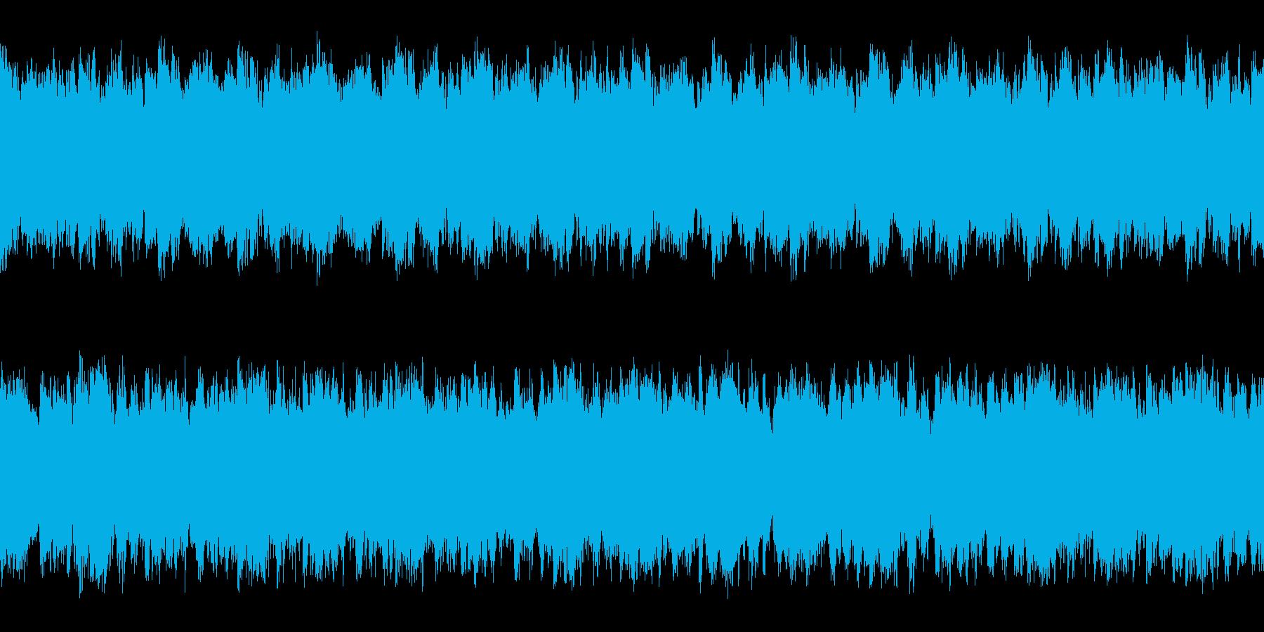 マップ画面・森洞窟・単調ループ・ピアノの再生済みの波形