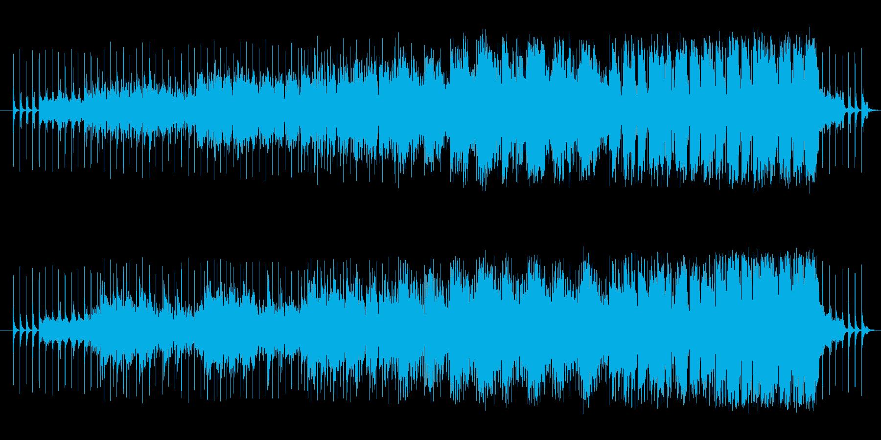 これから何かが起こりそうな広がりのある曲の再生済みの波形