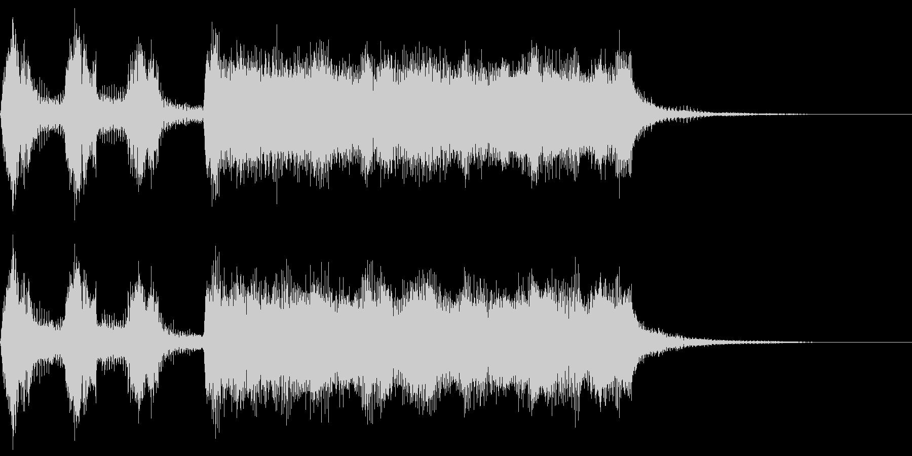 シンプルなファンファーレ5 1オクターブの未再生の波形