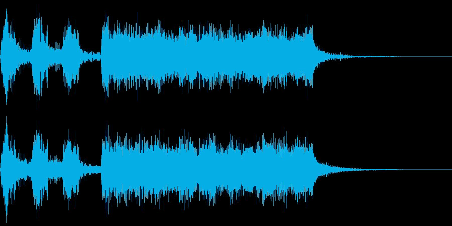 シンプルなファンファーレ5 1オクターブの再生済みの波形