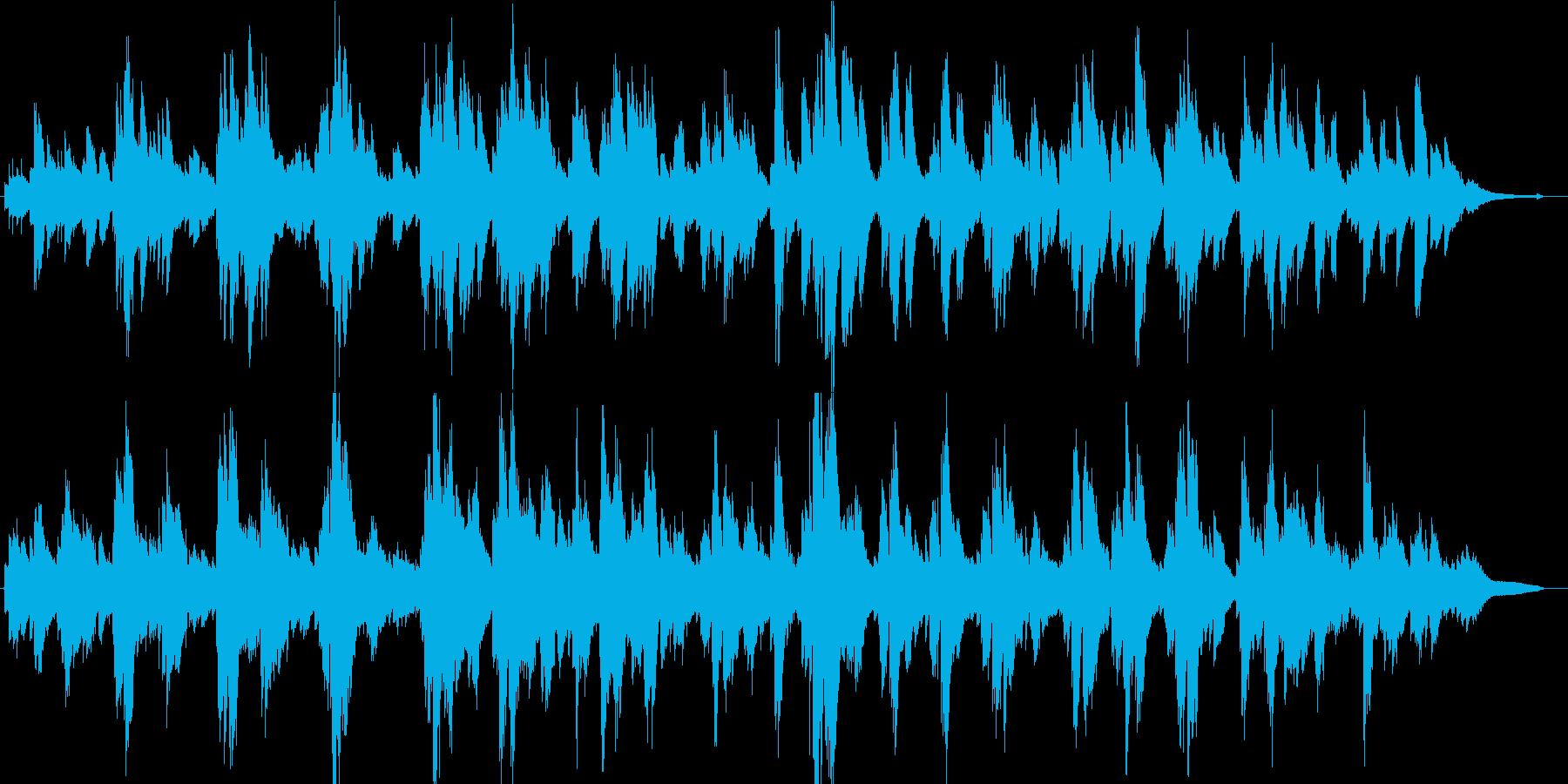 あたたかく優しい日常系ピアノソロ・ワルツの再生済みの波形