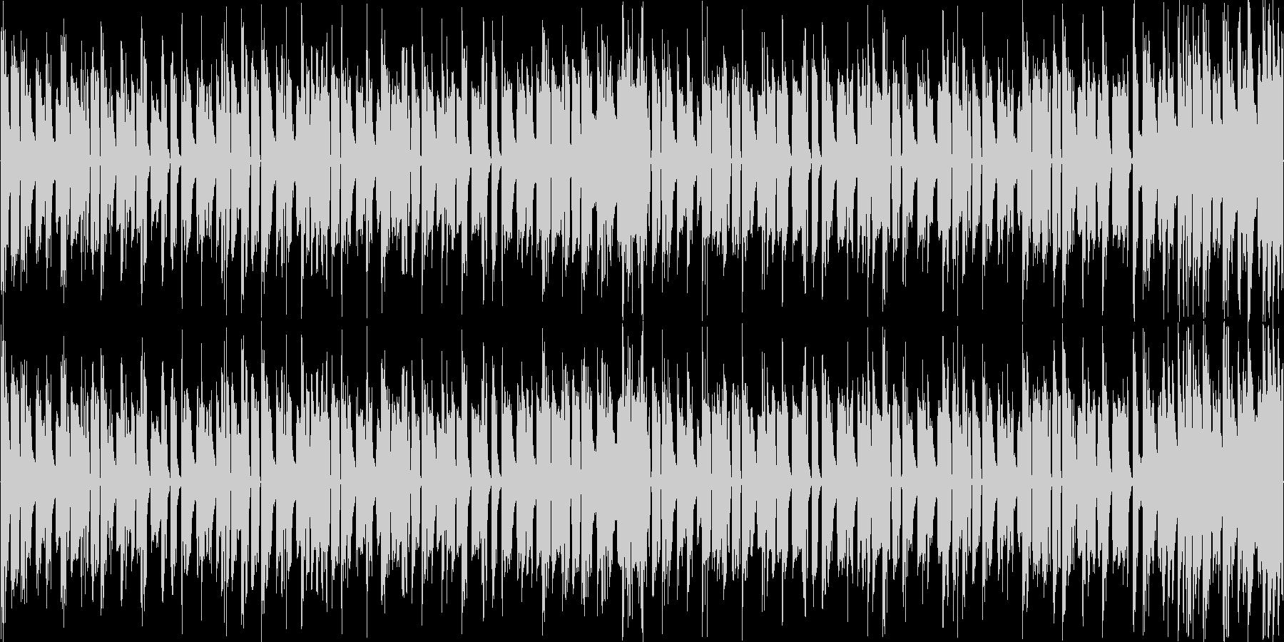 リズムを強調した軽快なエレクトロニカの未再生の波形