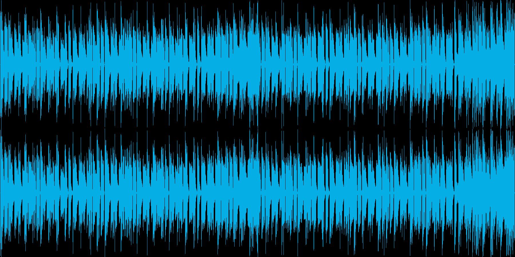 リズムを強調した軽快なエレクトロニカの再生済みの波形